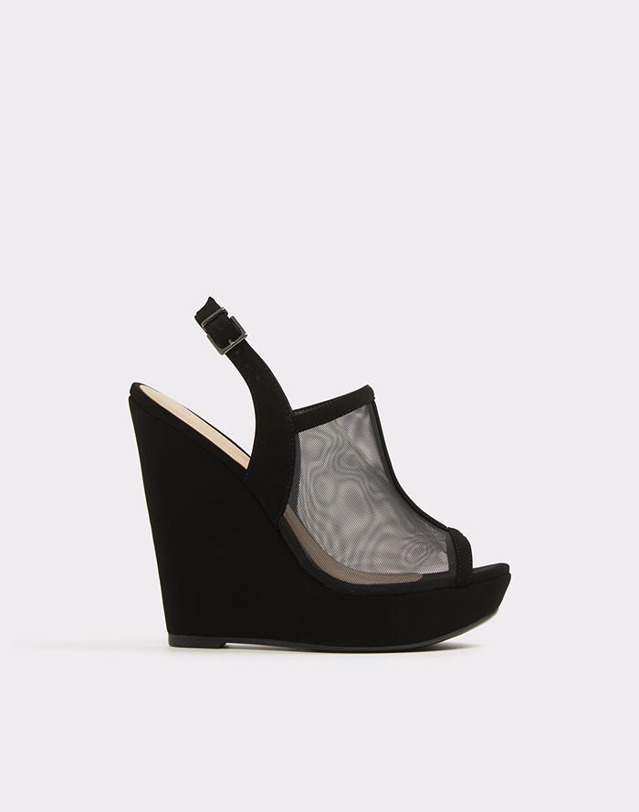 알도 웨지 샌들 ALDO Alianor,Midnight Black