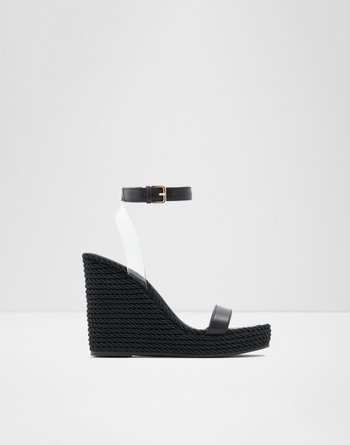 알도 웻지 샌들 ALDO Wedge sandal - Wedge heel Avgustina,Black