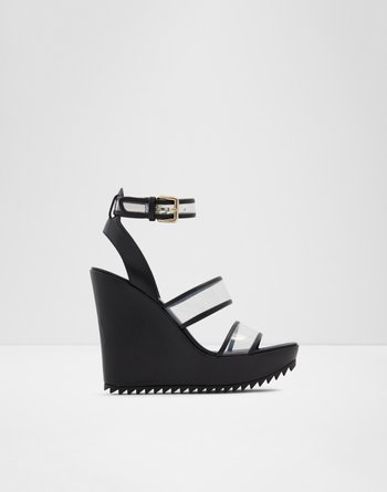 알도 웻지 샌들 ALDO Wedge sandal - Lug sole Cayenne,Black
