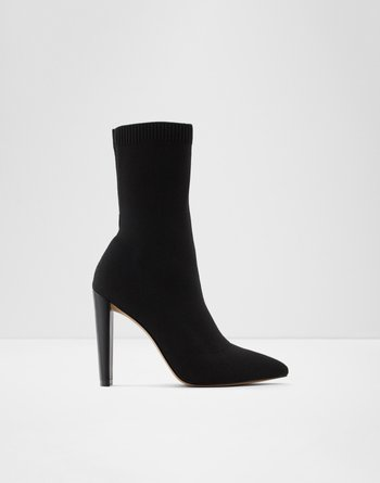 알도 ALDO Mid-calf boot - Stiletto heelDeludith,Black Textile Knit