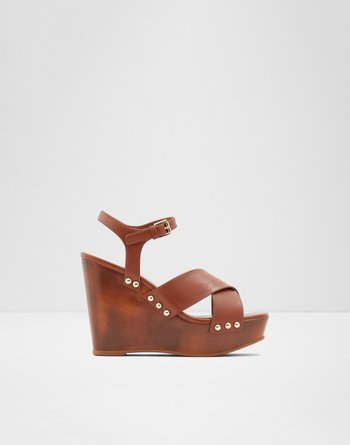 알도 웻지 샌들 ALDO Wedge sandal - Wedge heel Desbet,Medium Brown