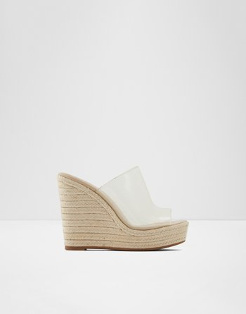 알도 웻지 샌들 ALDO Wedge sandal mule - Wedge heel Drameth,Light Pink