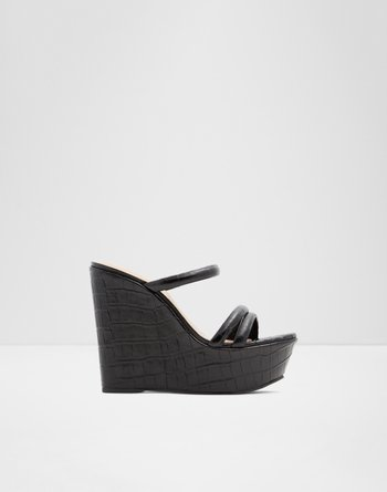 알도 웻지 샌들 ALDO Wedge sandal - Wedge heel Gallica,Black