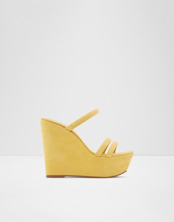 알도 웻지 샌들 ALDO Wedge sandal - Wedge heel Gallica,Light Yellow