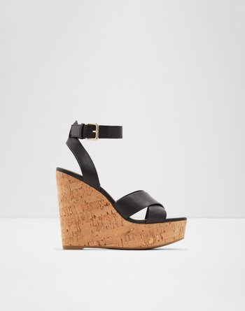 알도 웻지 샌들 ALDO Wedge sandal - Wedge heel Helena,Black