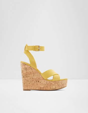알도 웻지 샌들 ALDO Wedge sandal - Wedge heel Helena,Yellow