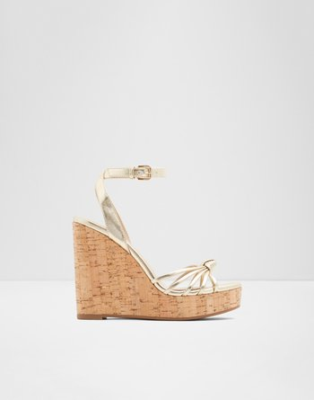 알도 웻지 샌들 ALDO Wedge sandal - Wedge heel Kaoedia,Gold
