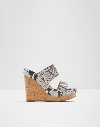 알도 웻지 샌들 ALDO Wedge sandal - Wedge heel Loviesien,Natural Multi