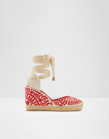 알도 에스파드류 ALDO Strappy Espadrilles - Wedge heel Muschino,Red