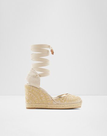 알도 에스파드류 ALDO Strappy Espadrilles - Wedge heel Muschino,Gold