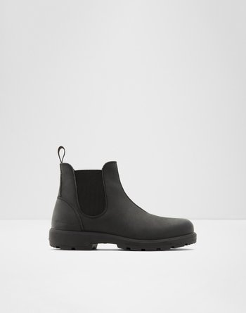 알도 ALDO Chelsea ankle boot - Lug soleRastaban,Black Leather Nubuck