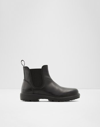 알도 ALDO Chelsea ankle boot - Lug soleRastaban,Black Leather Smooth