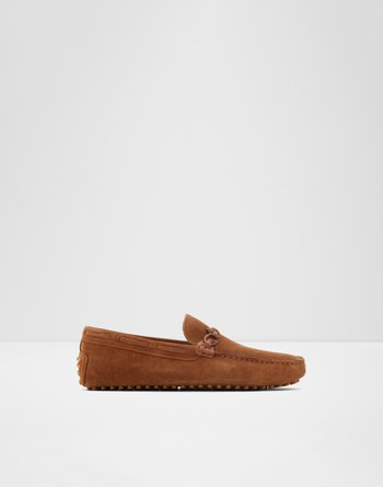 알도 드라이빙 로퍼 ALDO Roxbury,Brown Leather Suede