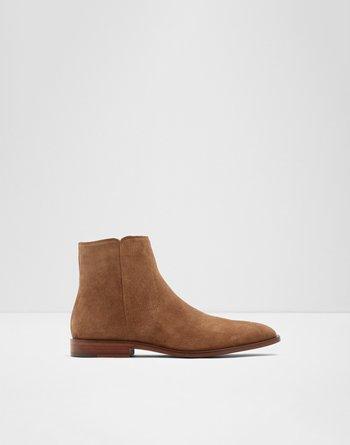알도 부츠 ALDO Ankle bootShilou,Cognac Leather Suede