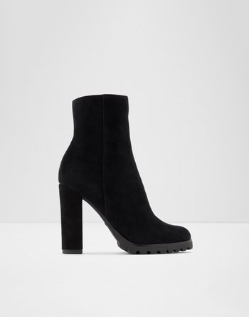 알도 ALDO Ankle boot - Block heelTealith,Black Leather Suede