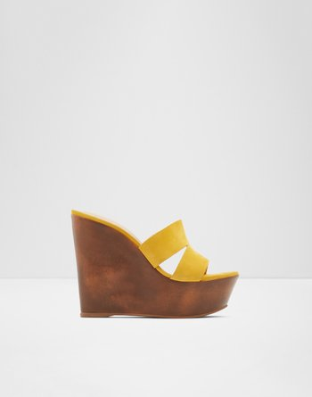 알도 웻지 샌들 ALDO Wedge sandal - Wedge heel Zykina,Bright Yellow