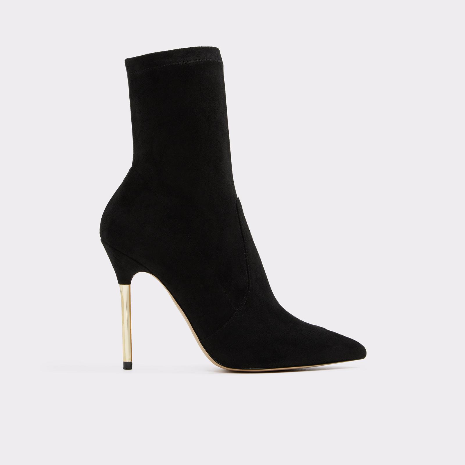 Cigarette Heel Black Boots