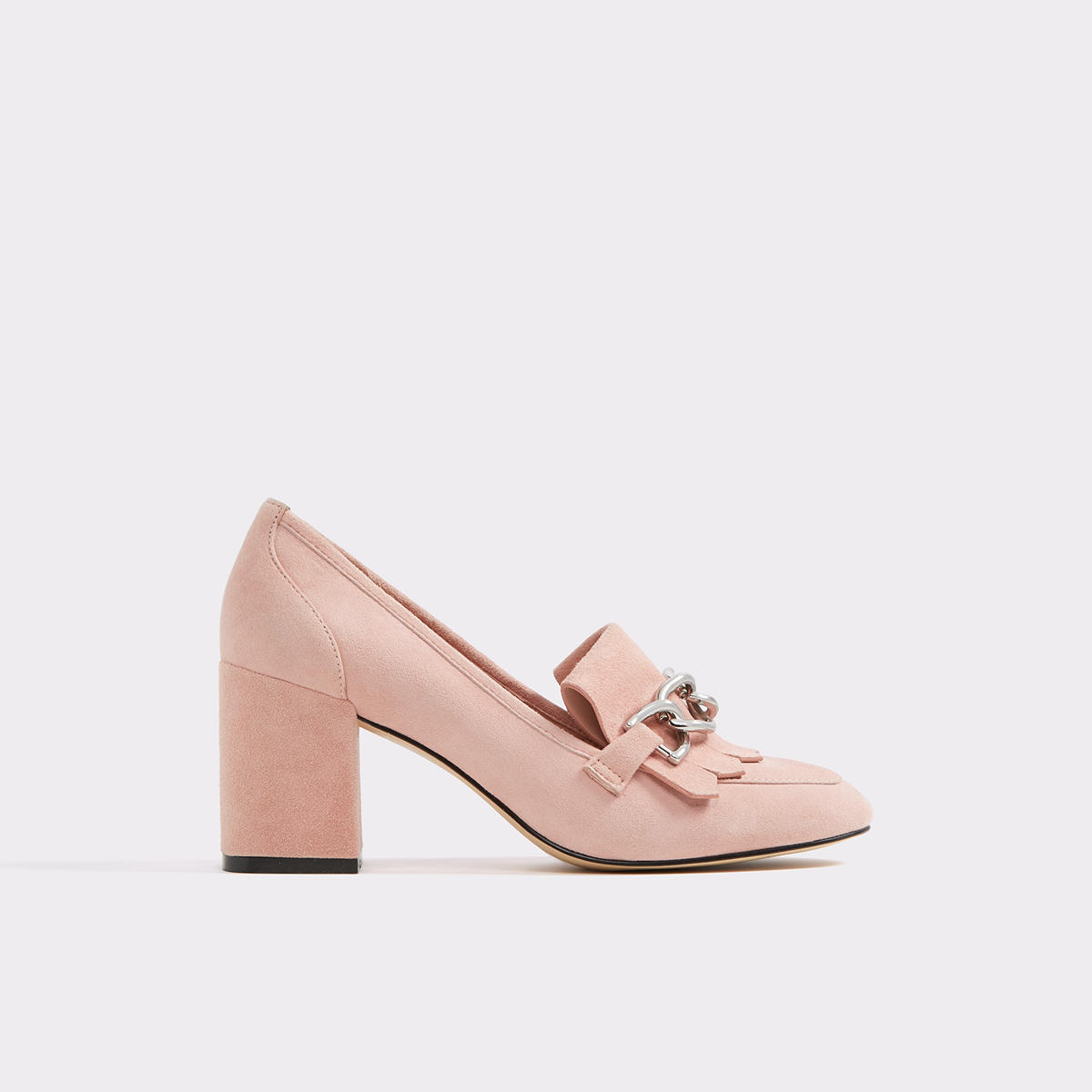 Pink Heeled Loafers