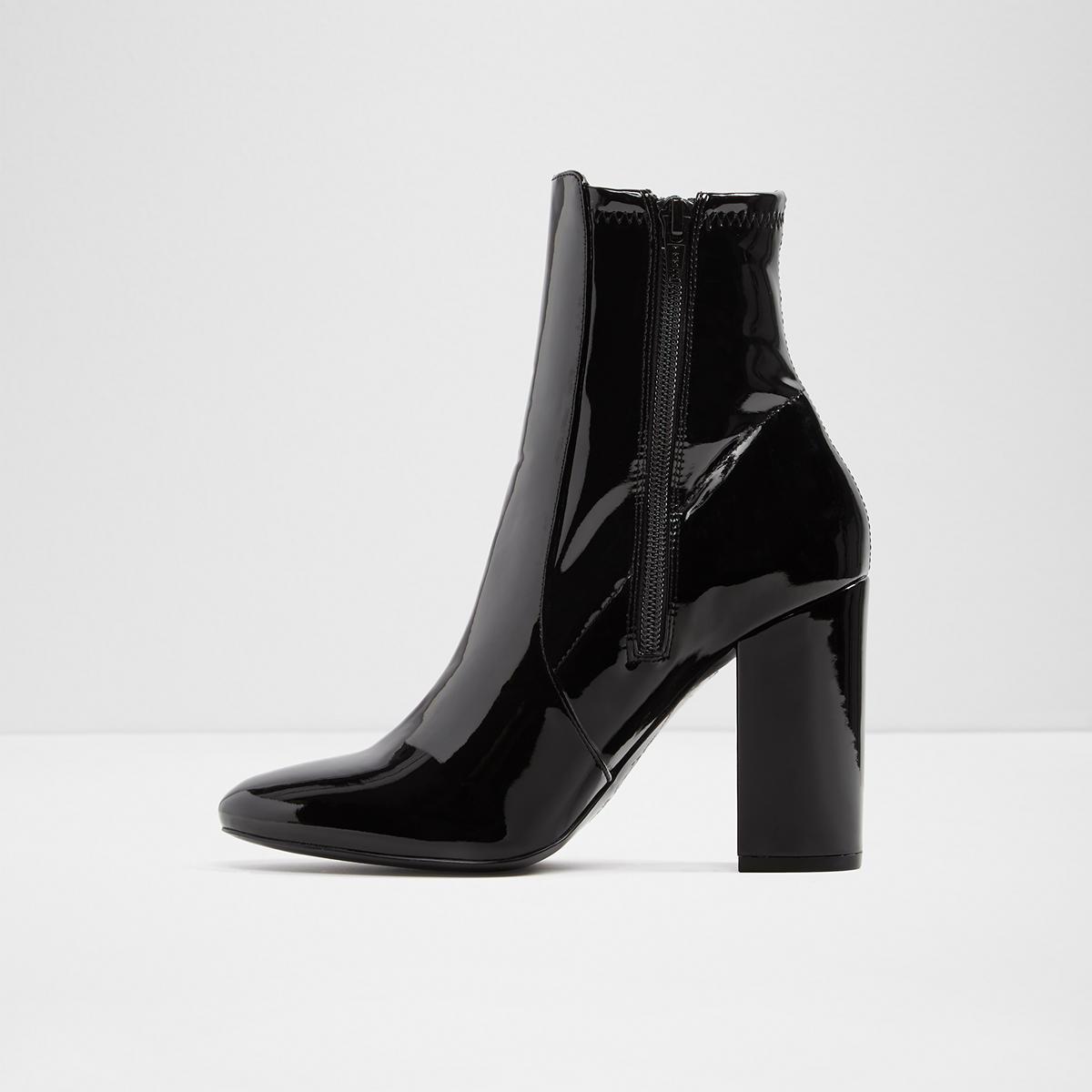 7411fb15c90 Aurella Black Patent Women s Ankle boots