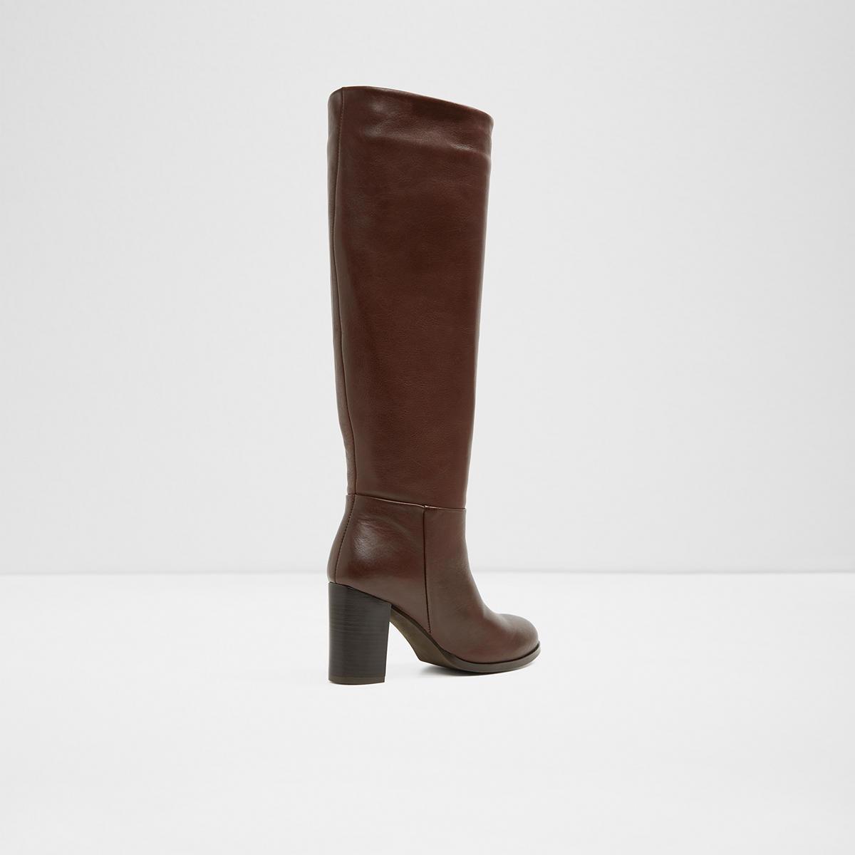 54af6cd28e7 Exulvie Dark Brown Women s Knee-high boots