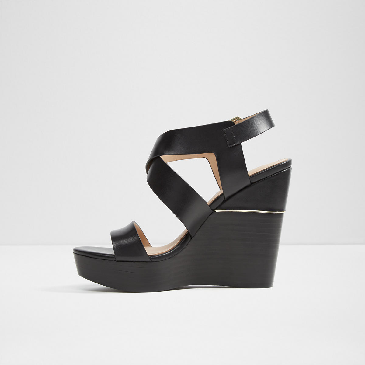 44f8cb7185b Faustina Black Women s Wedges