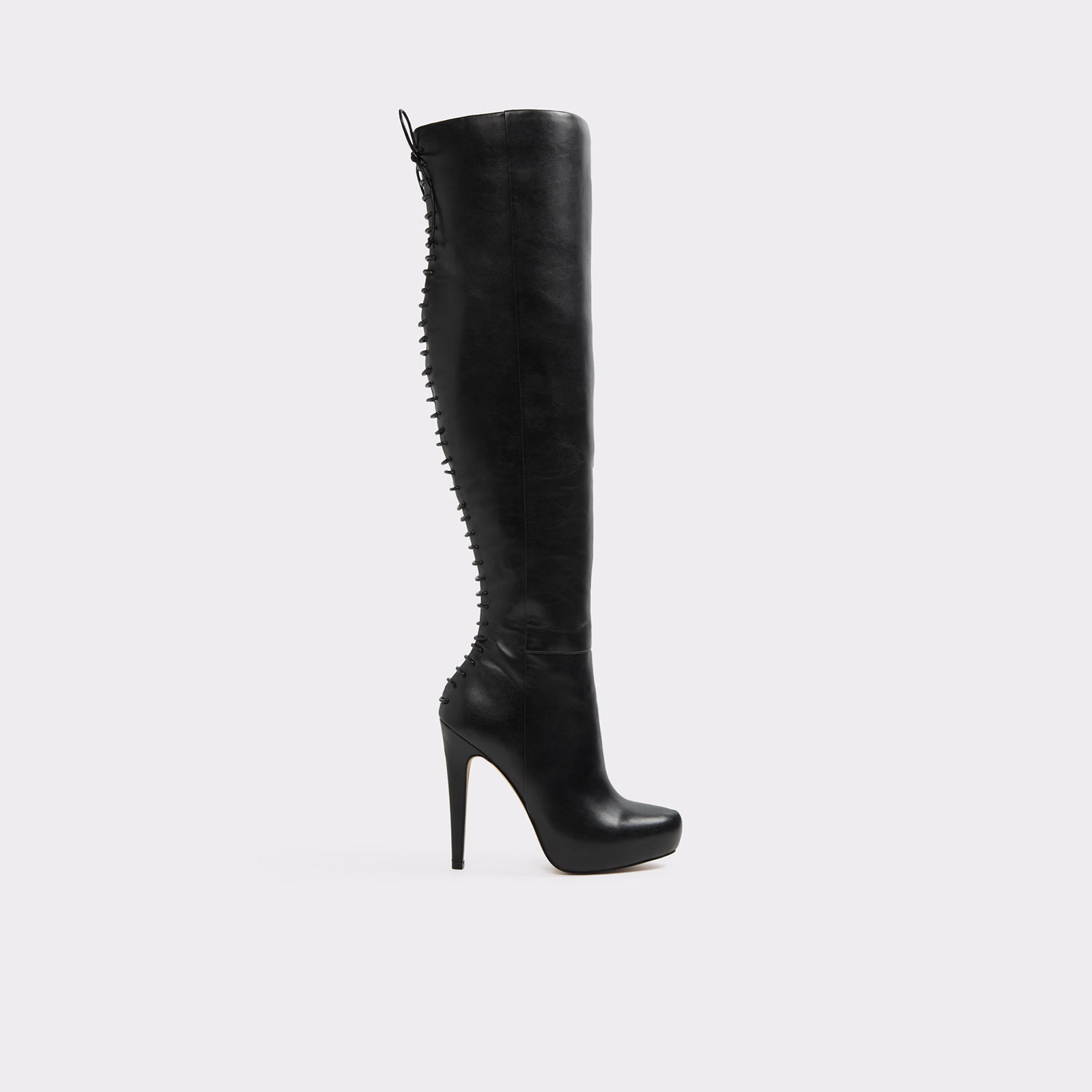 Graziella Black Knee-High Boots