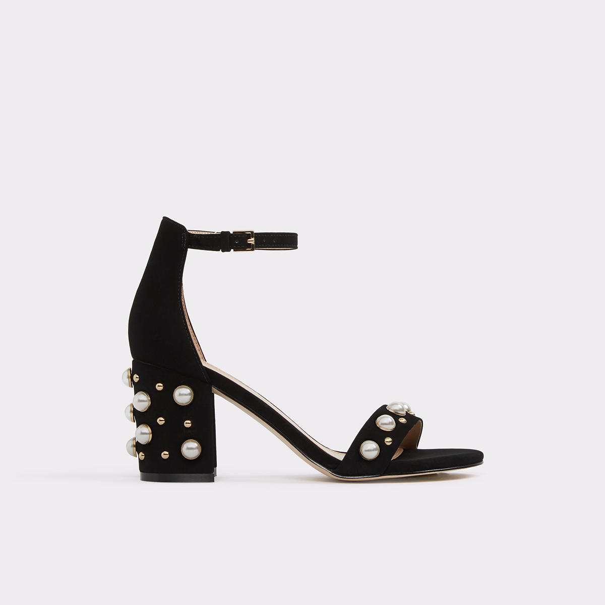 Majorca Black Women's Open-toe heels | ALDO US at Aldo Shoes in Victor, NY | Tuggl