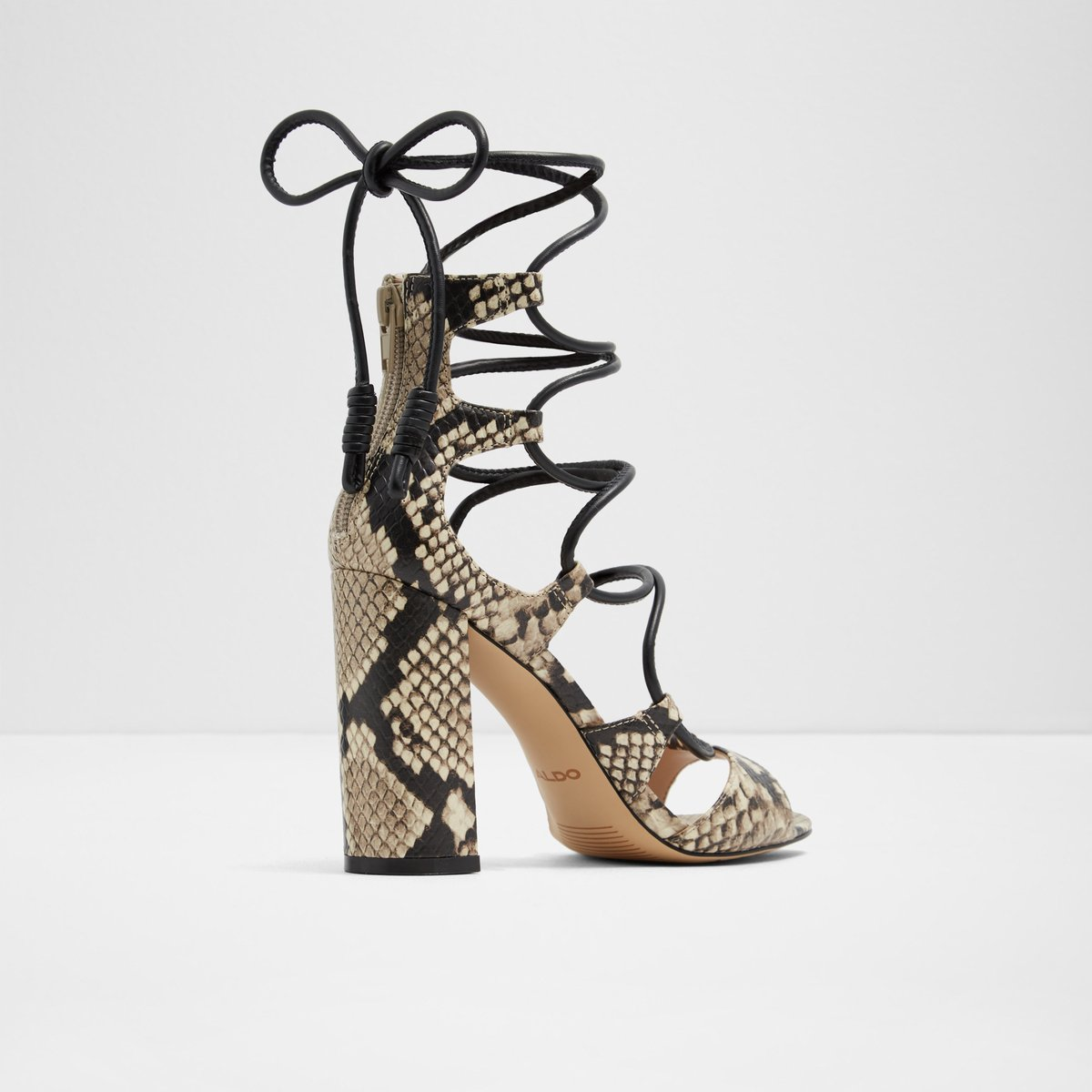5698b4bc8491 Miadia Natural Print Women s Heeled sandals