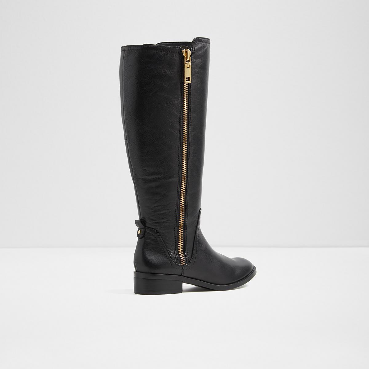 Mihaela W Black Womens Knee High Boots Us Inside Flats Jazmine