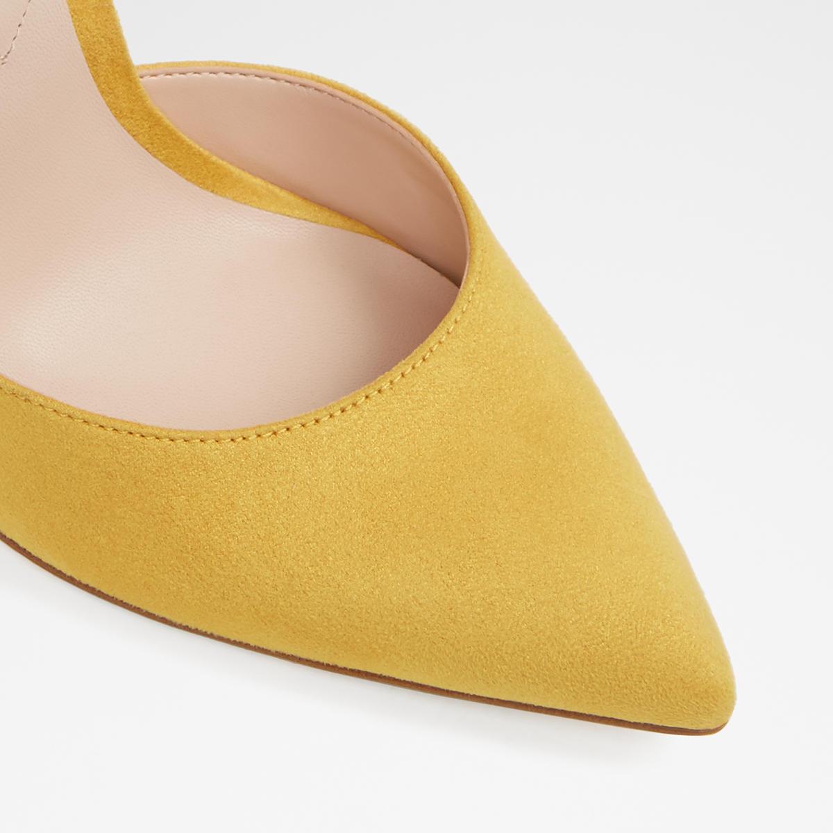 5109a8a3d595 Nicholes Mustard Women s Block heels
