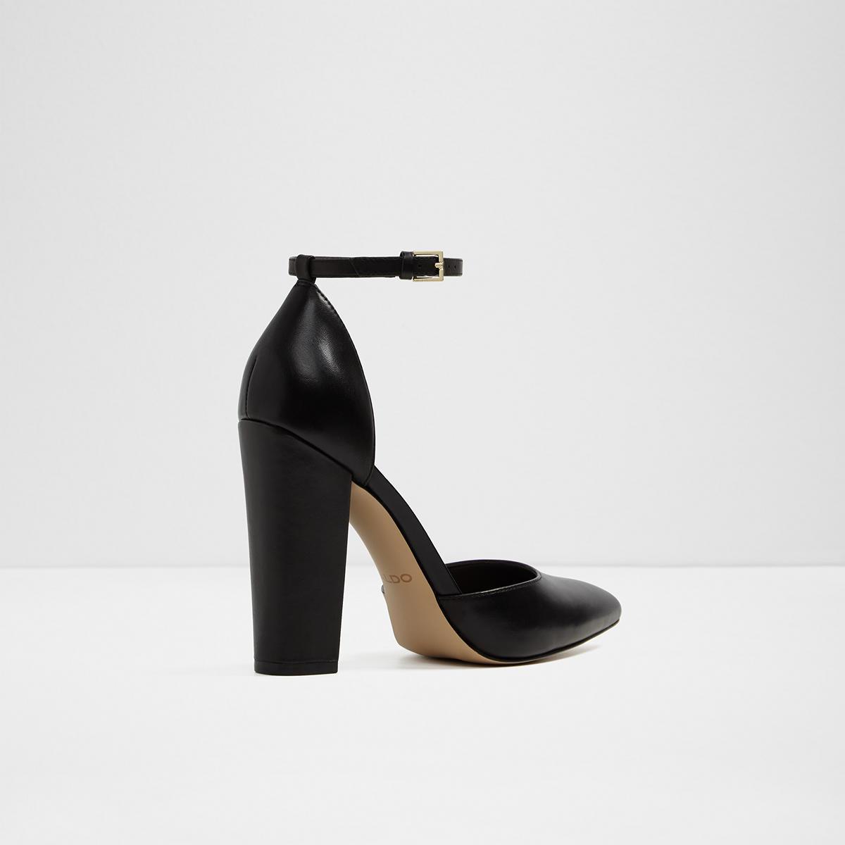 eca5c7414b2 Nicholes Black Women s Block heels