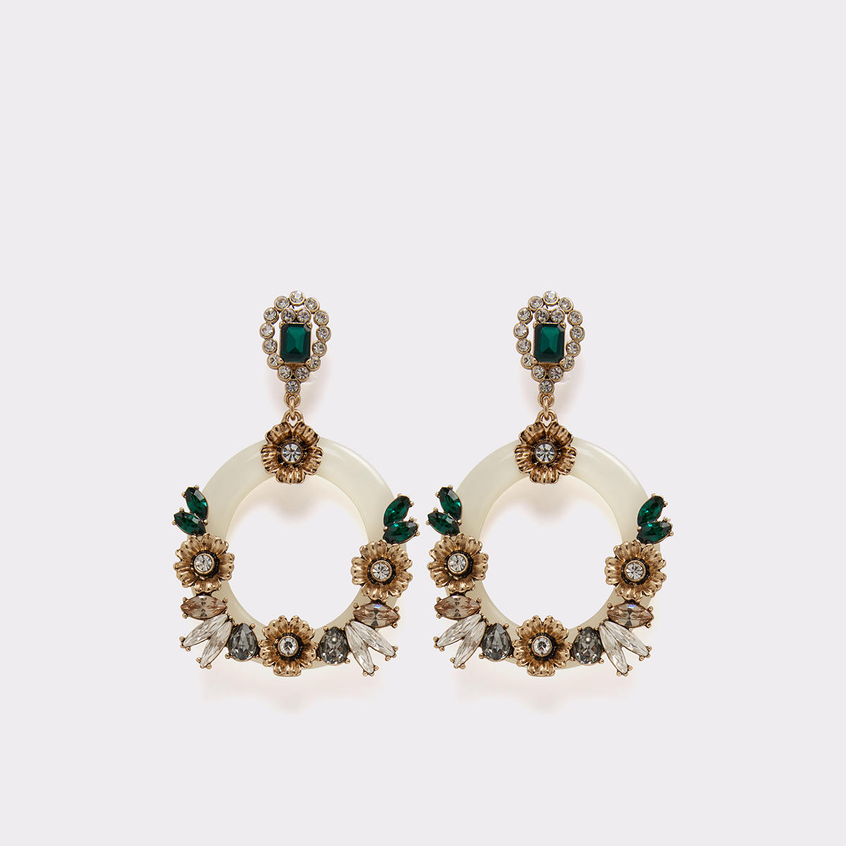 Roose Medium Green Women's Earrings | ALDO US at Aldo Shoes in Victor, NY | Tuggl