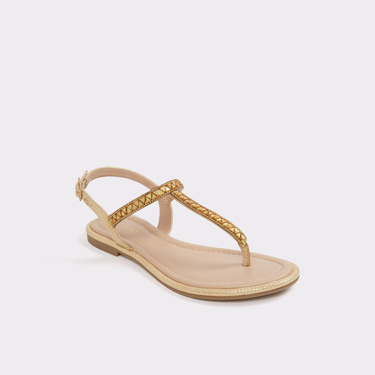 Sheeny Gold Women s Flats