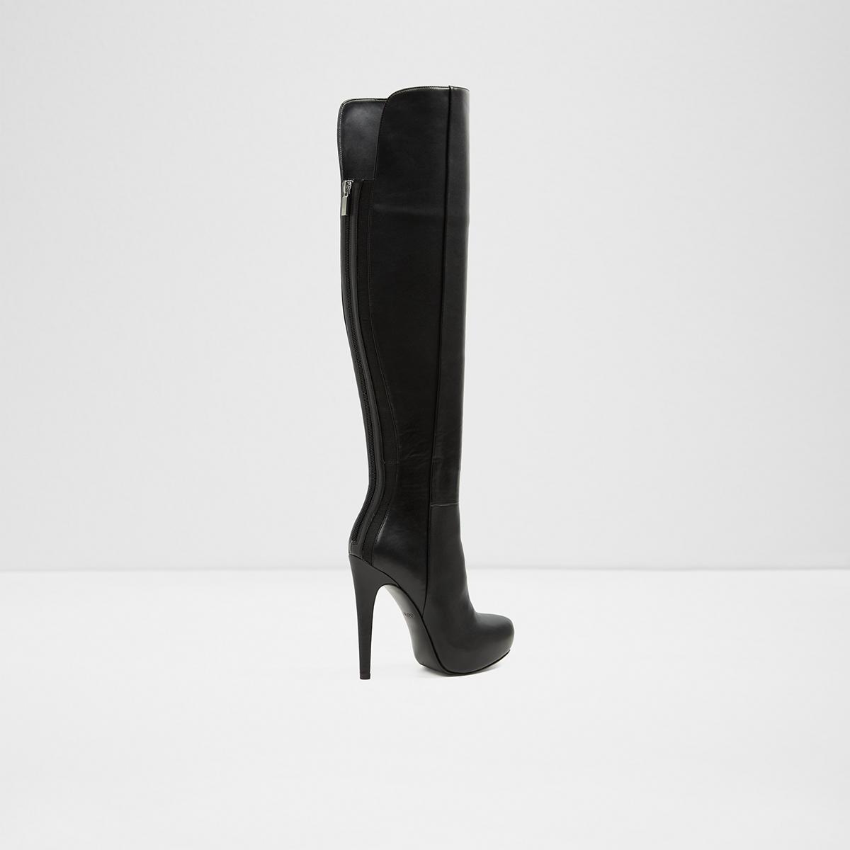 d4e48fdcf47 Thardossi Black Women s Over-the-knee boots