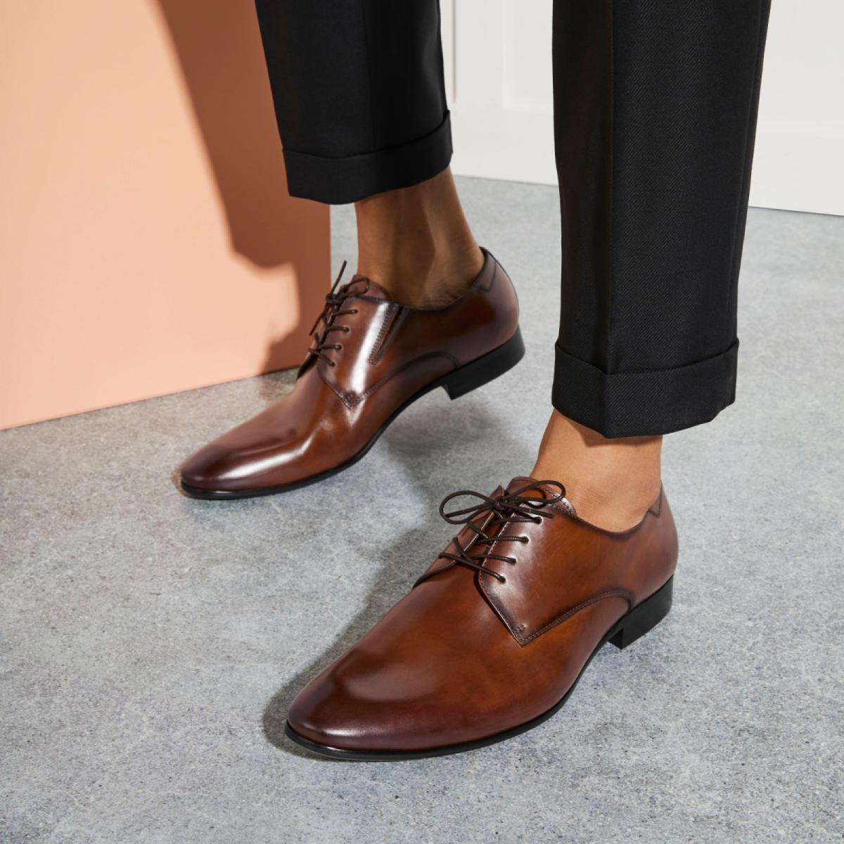 Tilawet Cognac Men S Lace Ups Aldoshoes Com Us