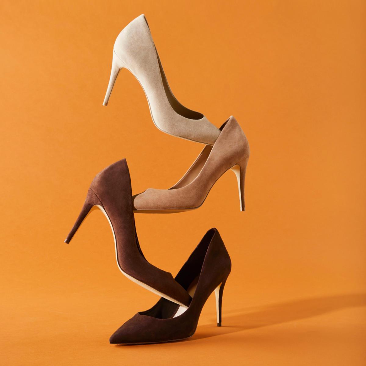 0198ce2270a Uloaviel-N Brown Suede Women s Heels