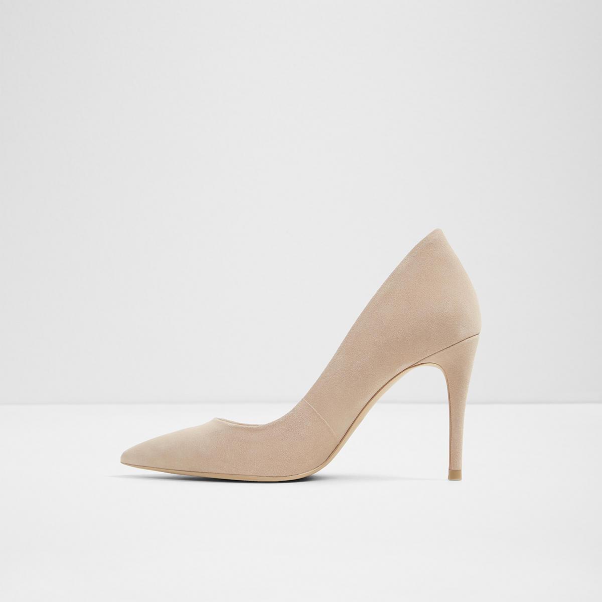 41818f66c7c Uloaviel-N Bone Suede Women s Heels