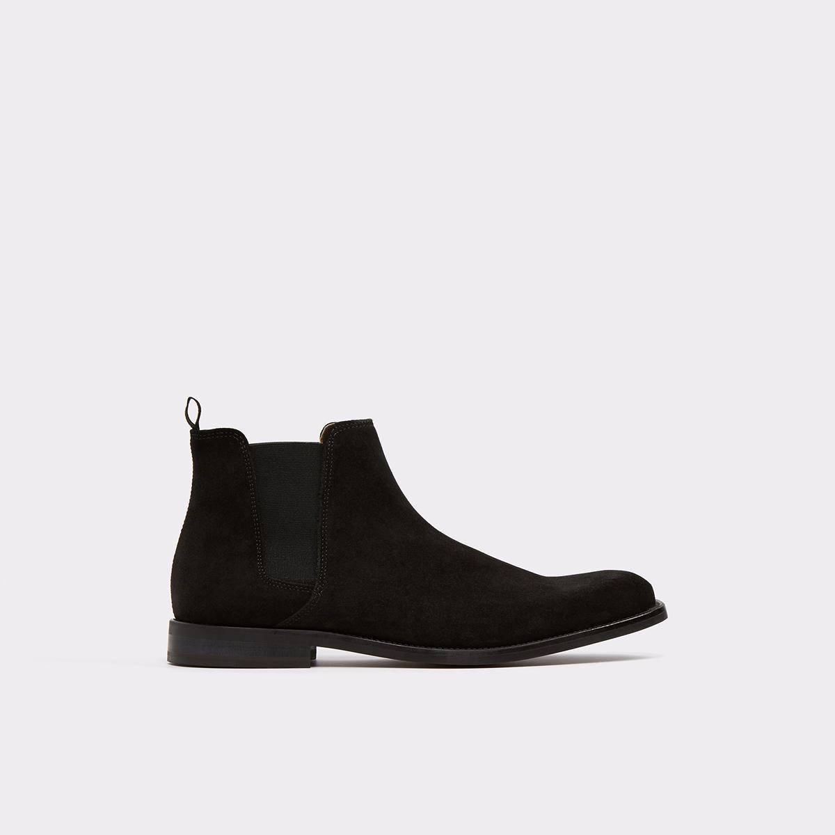 Vianello-R Black Suede Men\'s Dress boots | ALDO US