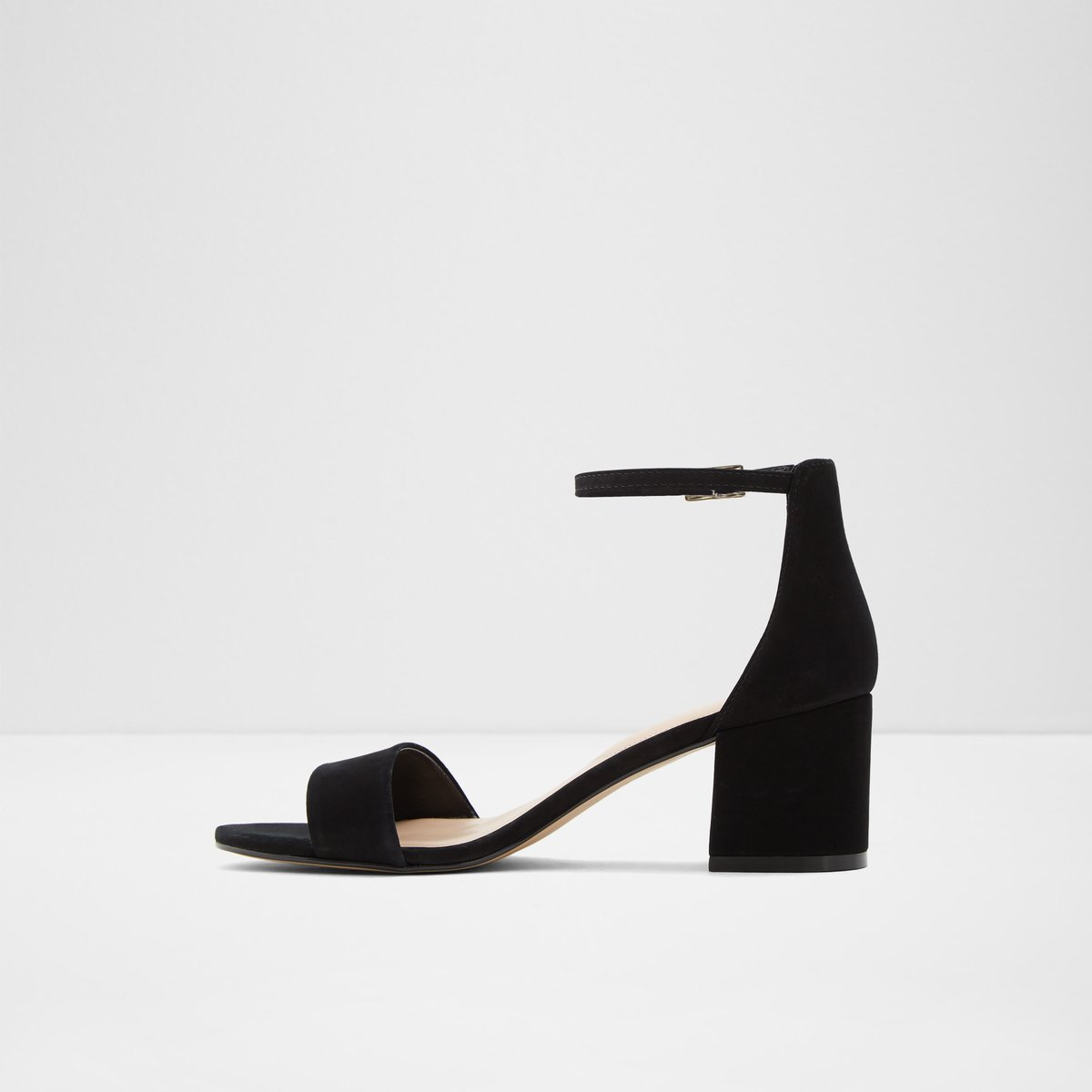 Villarosa Black Nubuck Women s Block heels