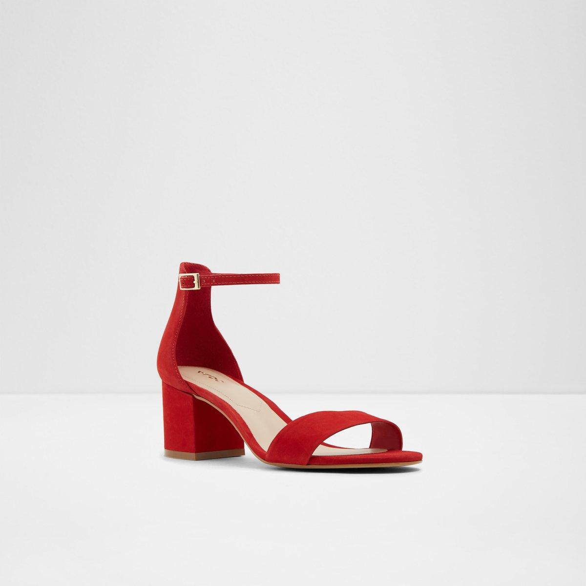 8d019defe59 Villarosaw Red Nubuck Women s Block heels