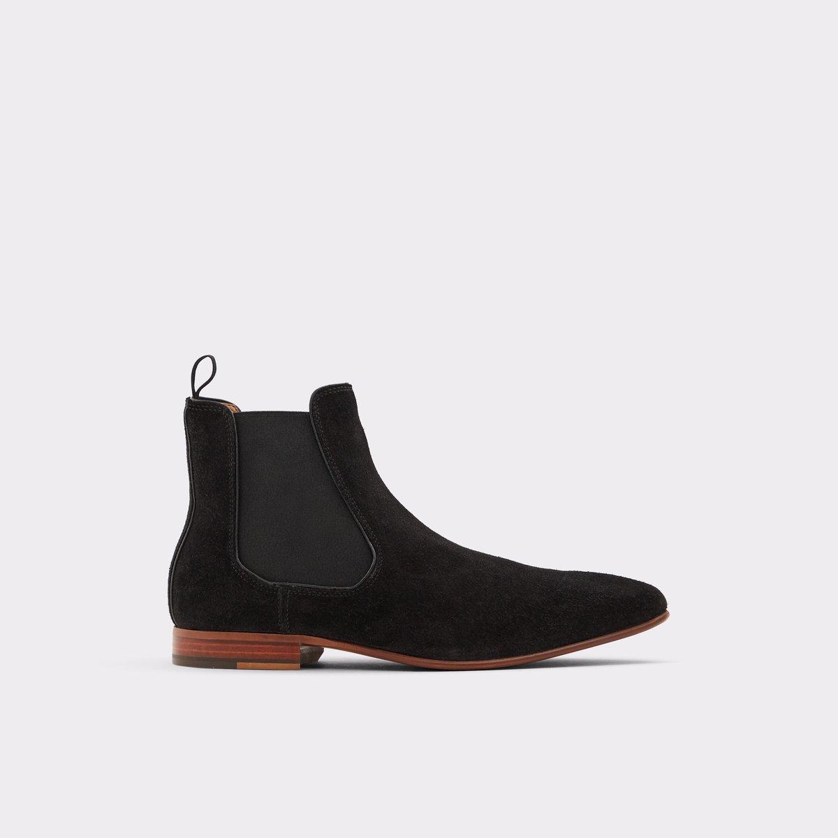a0890b05451 Biondi-r Black Leather Suede Men's Chelsea boots   Aldoshoes.com US