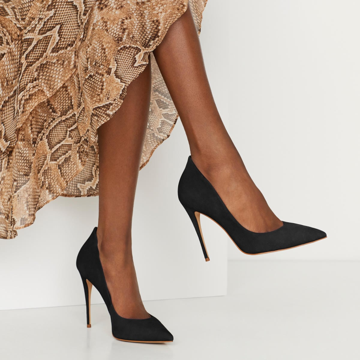Cassedy Black Leather Nubuck Women's