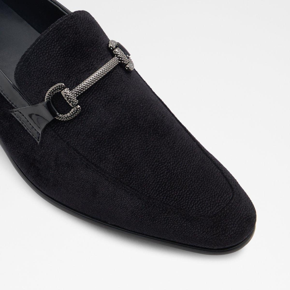 Drylian Black Leather Velvet Men's