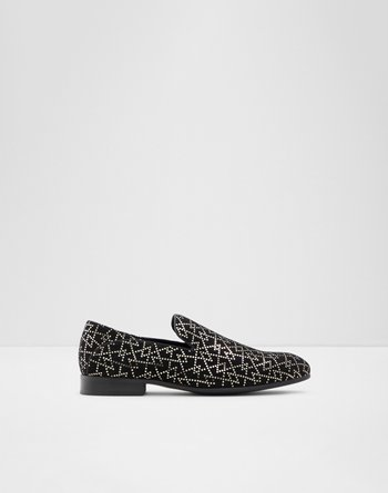 알도 ALDO Loafer Judge,Black Leather Print