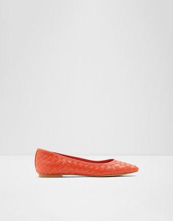 알도 발레리나 플랫 슈즈 ALDO Kayse Bright Orange Womens Ballerinas