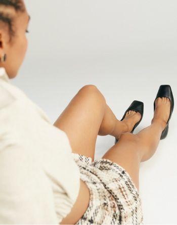 알도 발레리나 플랫 슈즈 ALDO Koosaflex-w Black Womens Ballerinas