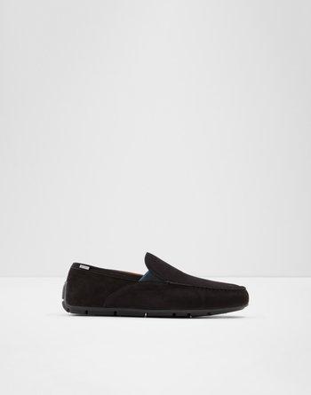알도 드라이빙 로퍼  ALDO Driving shoe Leibelt,Black Leather Nubuck