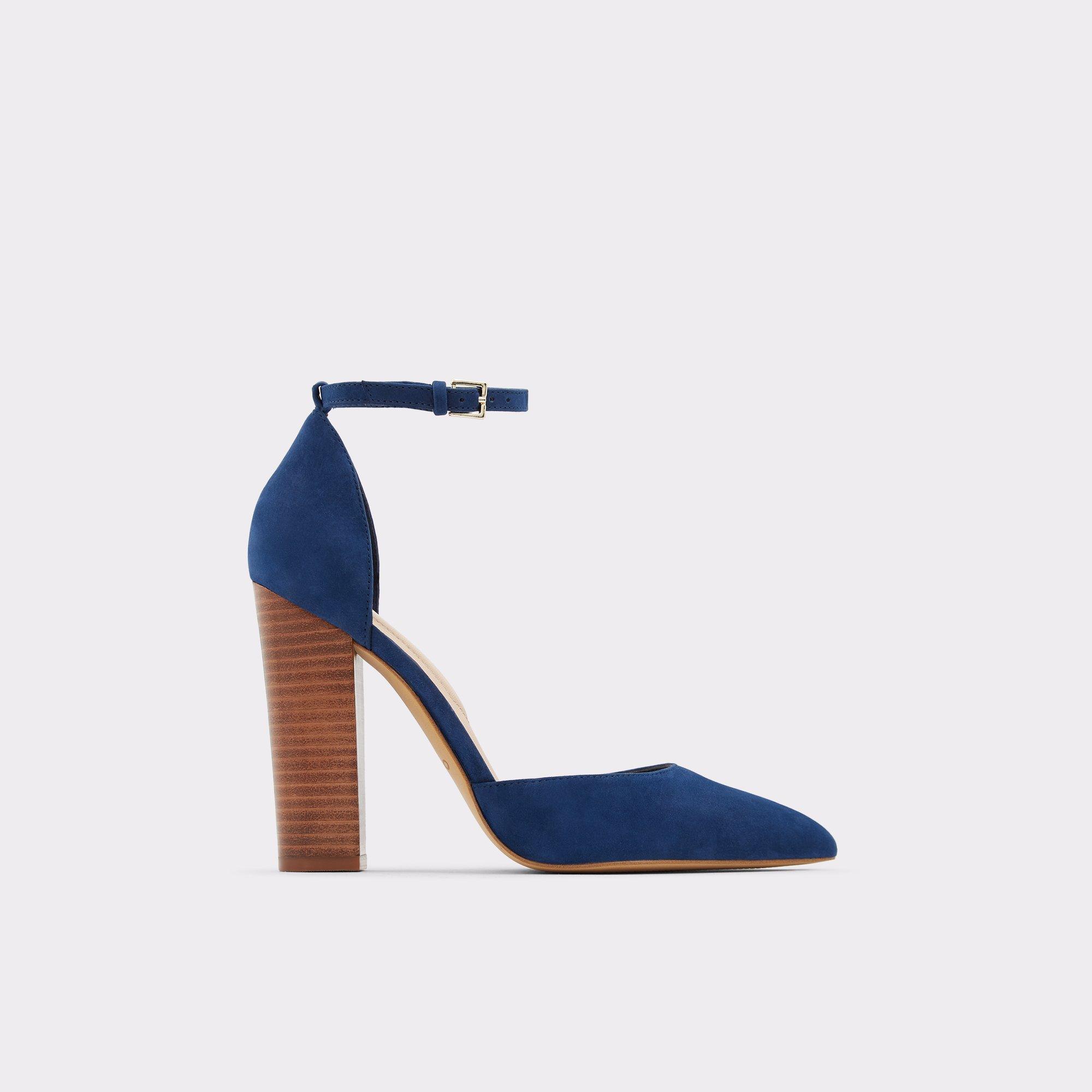 Nicholesd Navy Women's Block heels