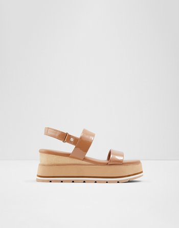 알도 웻지 샌들 ALDO Wedge sandal - Wedge heel Onalisa,Light Brown
