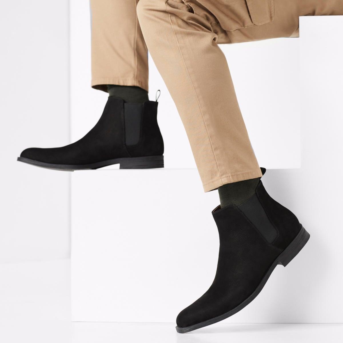 Oneilia Black Men's Chelsea Boots